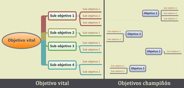objetivo vital vs champiñones