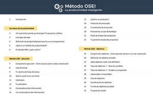 lista contenidos, método OSEI